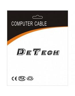 Кабел DeTech USB - USB Micro, USB, 30см, Прозрачен - 18111