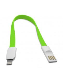 Кабел за данни DeTech Lightning - USB , iPhone 5/5s: 6,6S / 6plus,6S plus IPAD4/Mini, 22см, Flat, С магнит - 14247