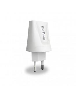 Мрежово зарядно устройство, DeTech, DE-01i, 5V/2.1A, 220V,1 x USB, С Lightning кабел, 1.0m, Бял - 14120
