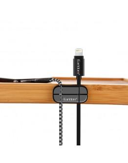 Органайзер за кабели Earldom Cable Clip, Черен - 14957