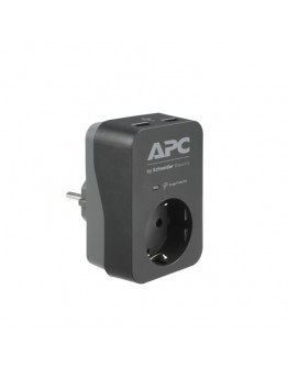 APC Essential SurgeArrest 1 Outlet 2 USB Ports Bla