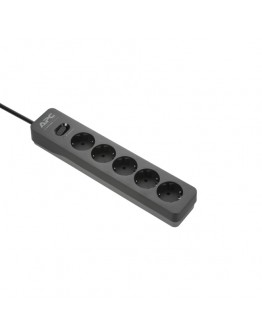 APC Essential SurgeArrest 5 Outlet 2 USB Ports Bla
