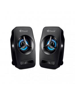 Тонколони Kisonli L-3030, 2x3W, USB, Черен - 22156