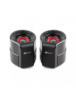 Тонколони Kisonli A-909, 2x3W, USB, Черен - 22160