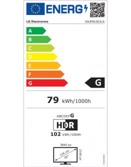 LG 50UP81003LA, 50 4K IPS UltraHD TV 3840 x 2160,