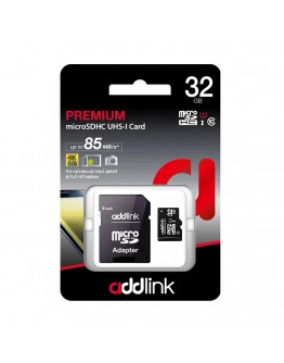 Addlink карта памет microSDXC 32GB UHS-1 Class 10 Adapter - ad32GBMSH310A