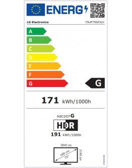 Телевизор LG 75UP75003LC, 75 4K IPS UltraHD TV 3840 x 2160,